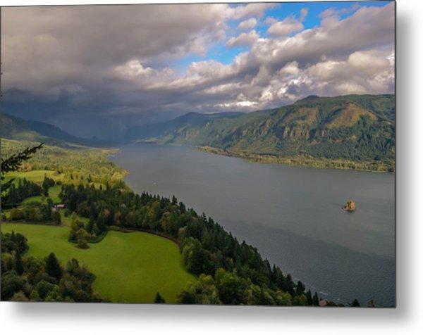 Columbia River Gorge Rain Clouds Metal Print by Tristina Yarzombek