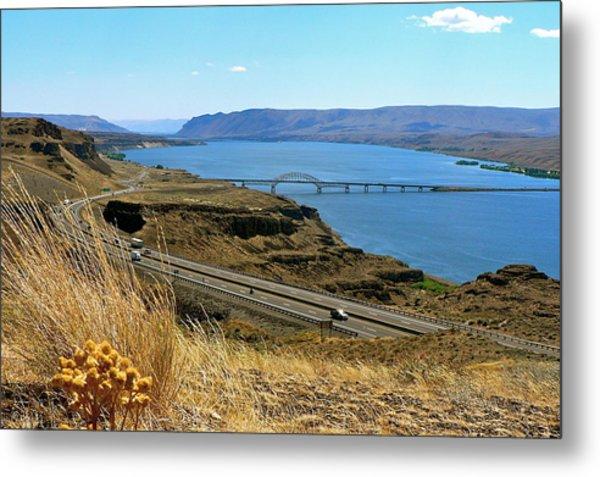 Columbia River Vantage Point Metal Print