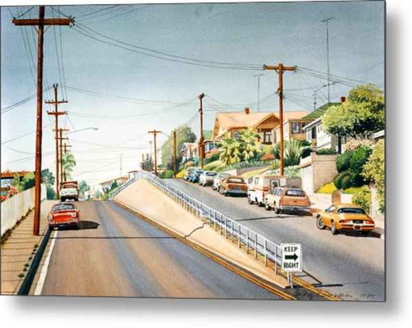 Columbia Street Middletown Metal Print by Mary Helmreich