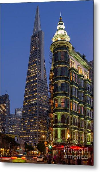 Columbus And Transamerica Buildings Metal Print