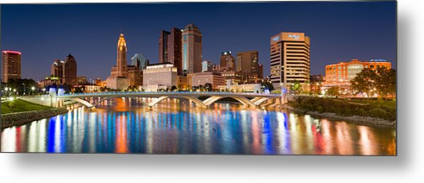 Columbus Ohio Pano  Metal Print