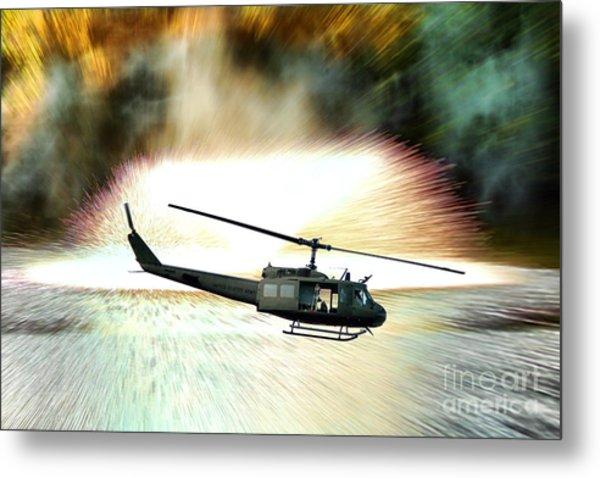 Combat Helicopter Metal Print