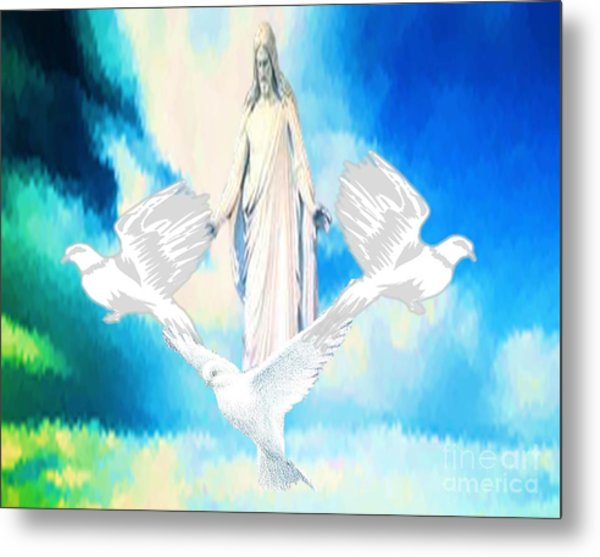 Come Find Peace Within Me Metal Print