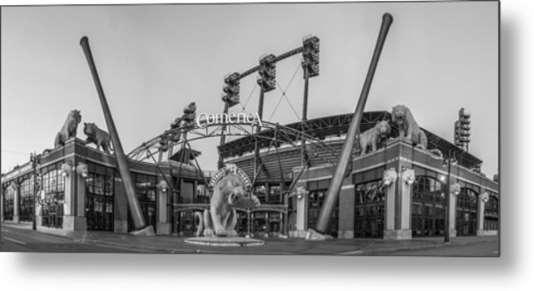 Comerica Park Black And White Metal Print