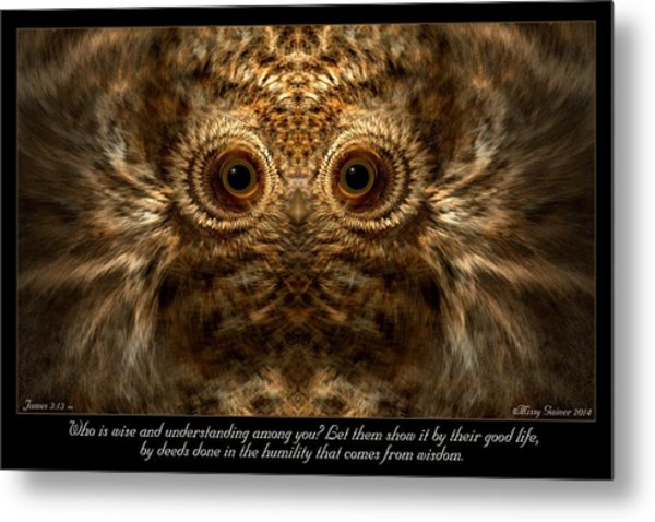 Comes From Wisdom Metal Print