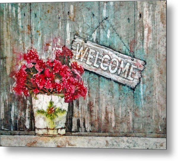 A Warm Welcome Metal Print