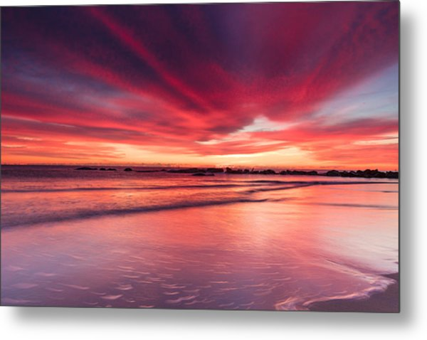 Metal Print featuring the photograph Coming Soon Sunrise At Hampton Beach by Jeff Sinon