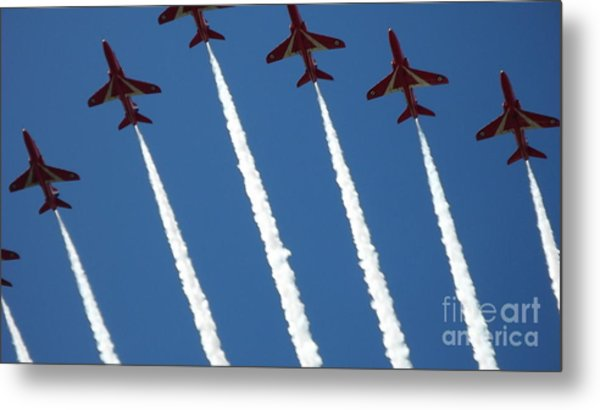 Coming To  Land Metal Print