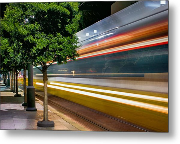 Dallas Commuter Train 052214 Metal Print