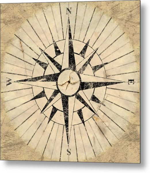 Compass Face Metal Print