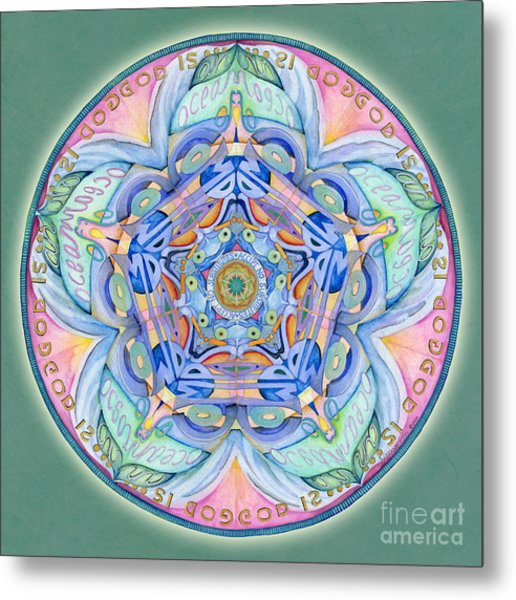 Compassion Mandala Metal Print