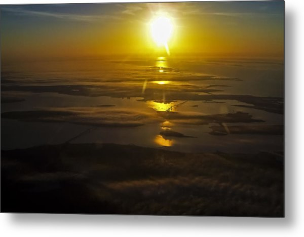 Conanicut Island And Narragansett Bay Sunrise II Metal Print