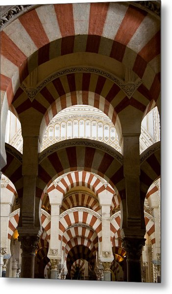 Concentric Arabic Arches Metal Print
