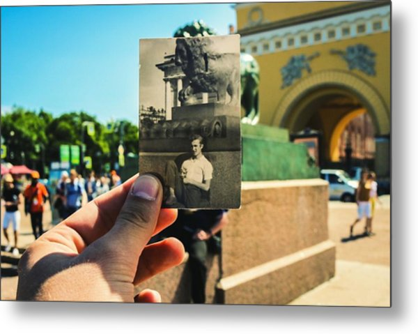 Conceptual Comparison With Old Photograph Outdoors Metal Print by Georgy Dorofeev / EyeEm