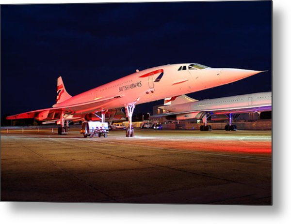 Concorde On Stand Metal Print