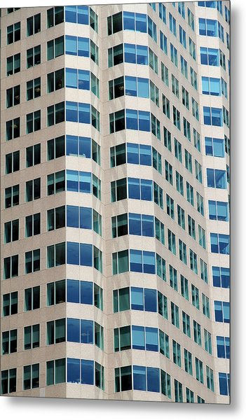 Concrete And Blue Glass Metal Print