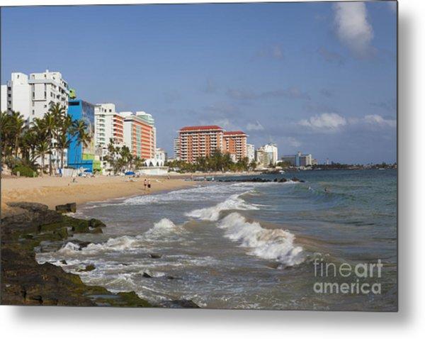 Condado Beach San Juan Puerto Rico Metal Print