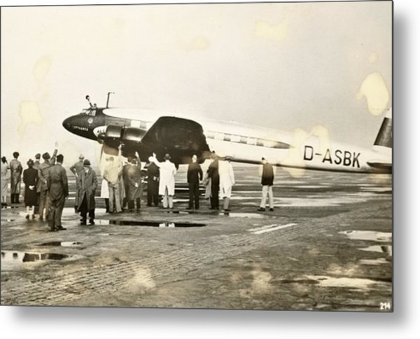 Condor Aircraft Before Take-off Metal Print