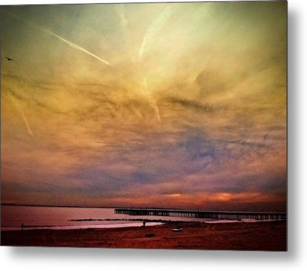 Coney Island After Sandy Metal Print