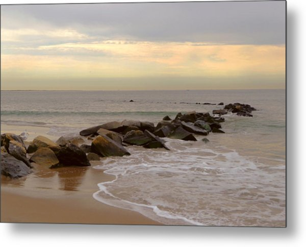 Coney Island Jetty Metal Print by Frank Winters