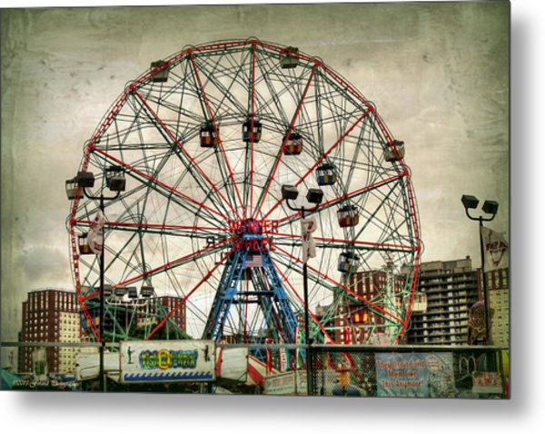Coney Island Wonder Wheel  Metal Print