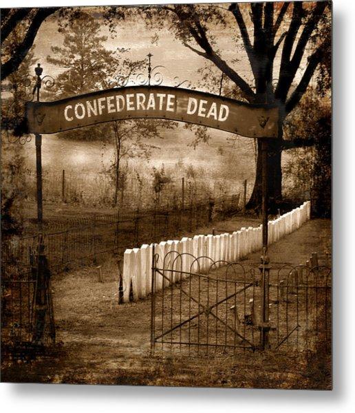 Confederate Dead Metal Print