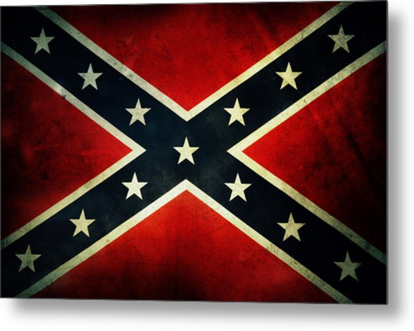 Confederate Flag Metal Print