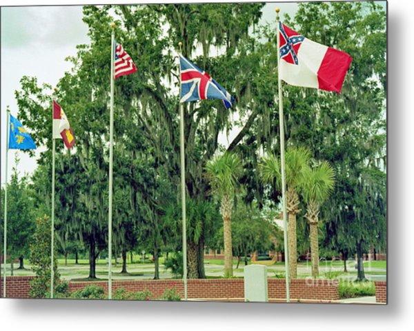 Confederate - Flags Of My Ancestors Metal Print by Wayne Nielsen