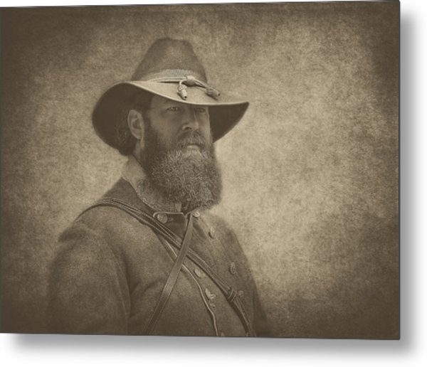 Confederate General Metal Print