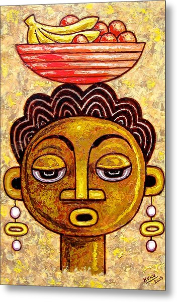 Congalese Face 1 Metal Print