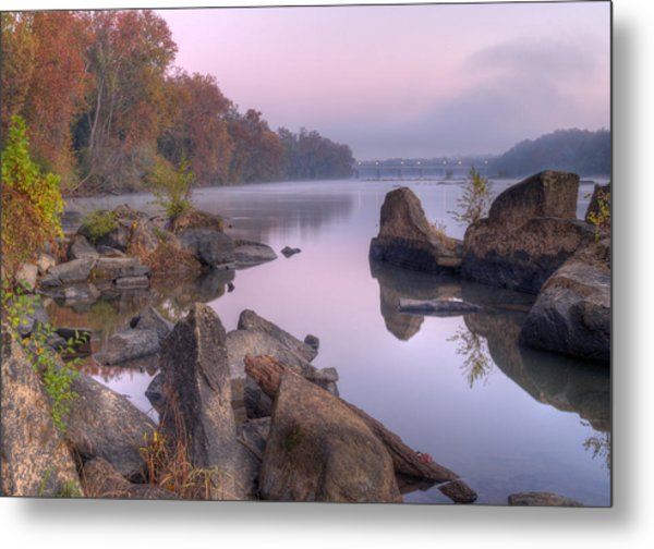 Congaree River At Dawn-1 Metal Print