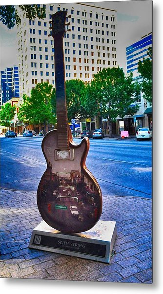 Congress Avenue Sixth String Metal Print