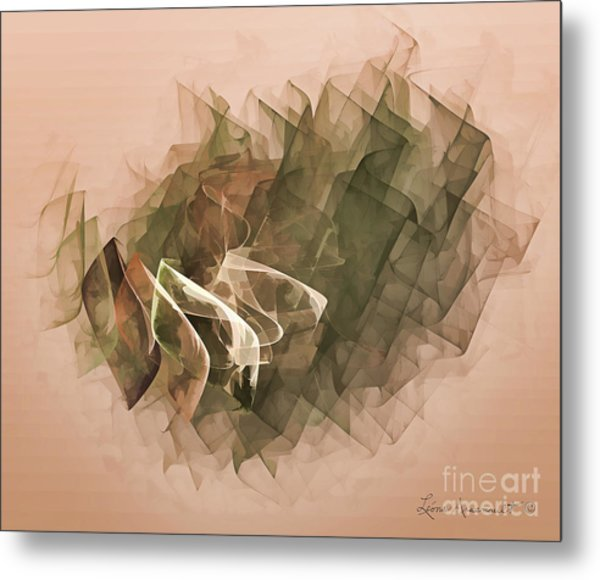 Connected Metal Print by Leona Arsenault