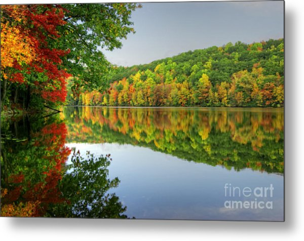 Connecticut River In Autumn Metal Print