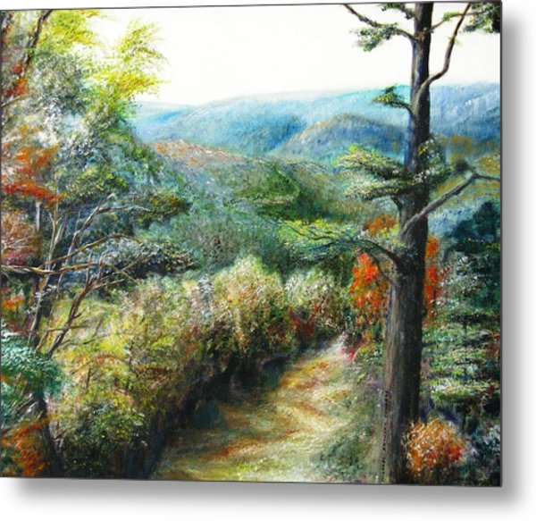 Connecticut Trail Metal Print by Michael Anthony Edwards