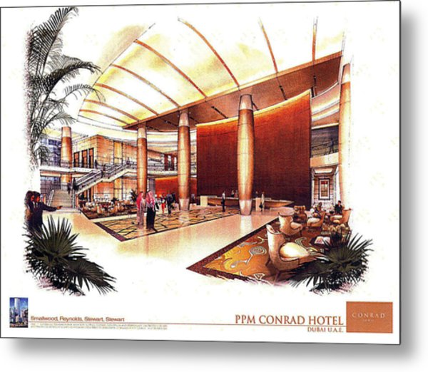 Conrad Hotel Dubai Metal Print by Jack Adams
