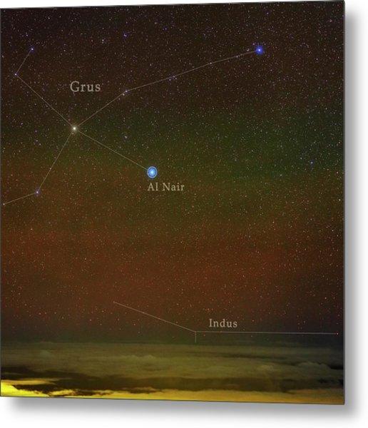 Constellation Grus Metal Print