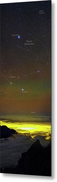 Constellations Over Clouds Metal Print