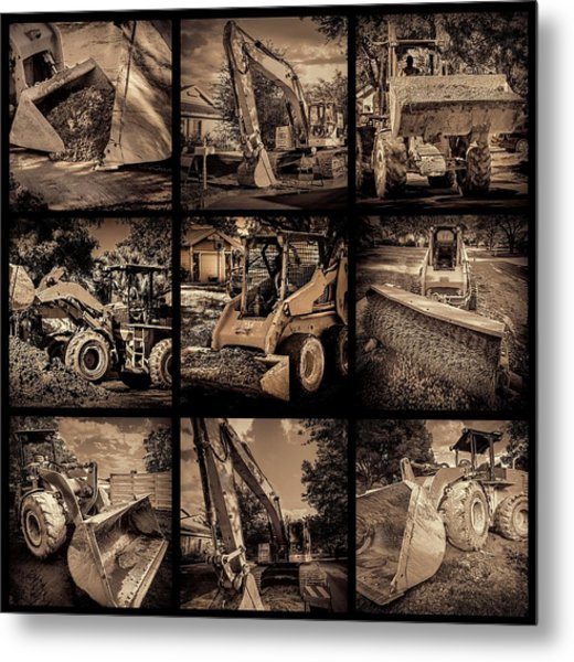 Construction Collage-1 Metal Print