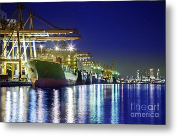 Container Cargo Freight Ship Metal Print