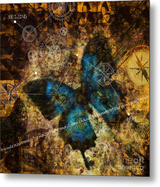 Contemplating The Butterfly Effect  Metal Print