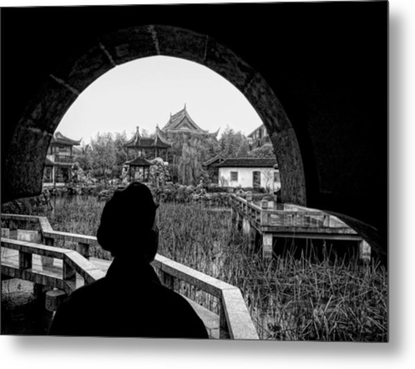 Contemplating The View Metal Print