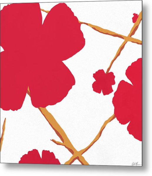 Contemporary Poppy Metal Print