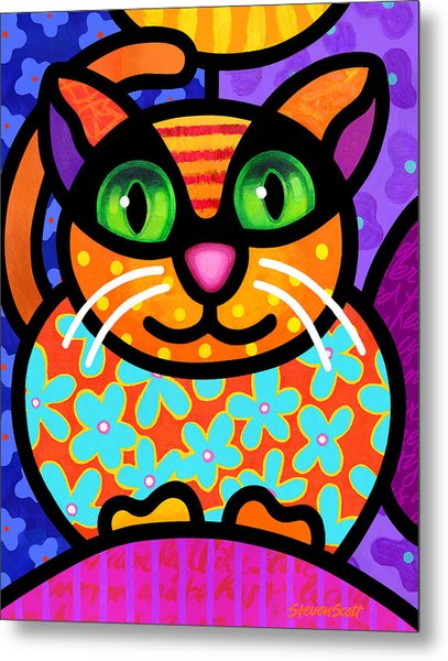 Contented Cat Metal Print