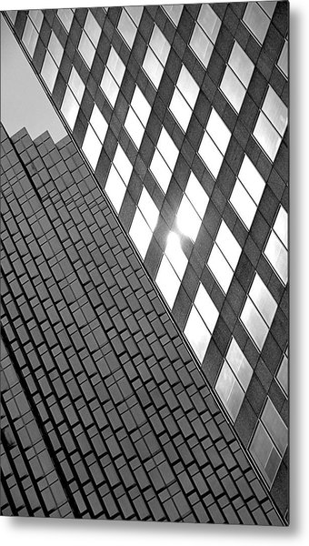 Contrasting Architecture Metal Print