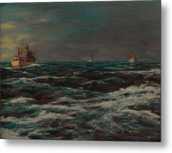 Convoy Morning North Atlantic Wwii Metal Print