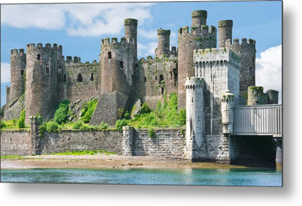Conwy Castle Wales Metal Print