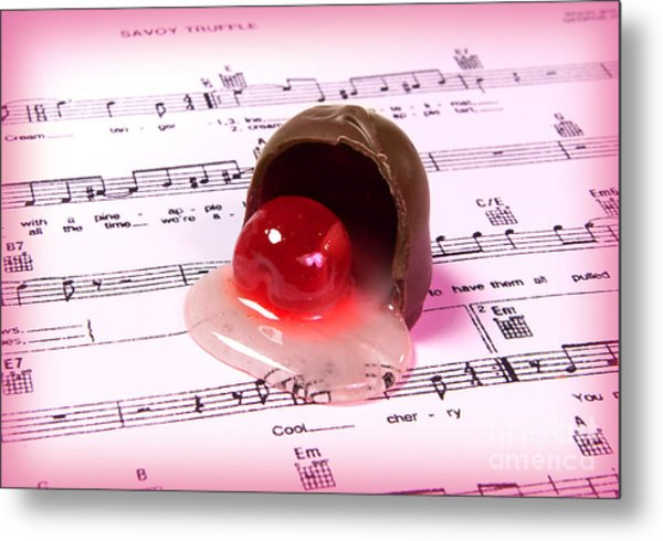Cool Cherry Cream Metal Print