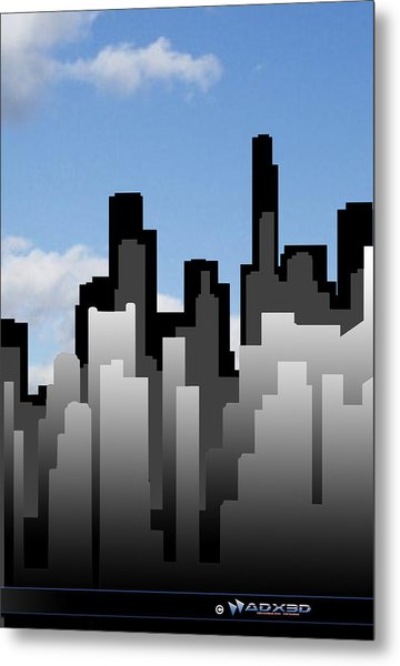 Cool Jazz City  Metal Print