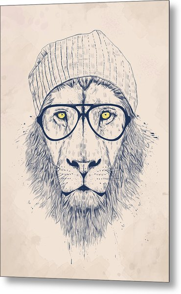 Cool Lion Metal Print